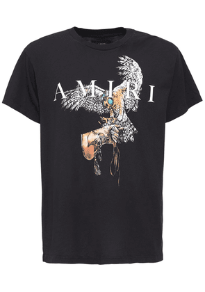 Amiri Falcon Print Cotton T-shirt