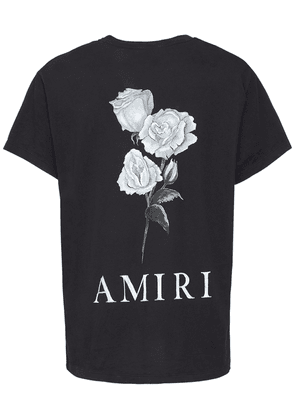 Amiri Flowers Print Cotton T-shirt