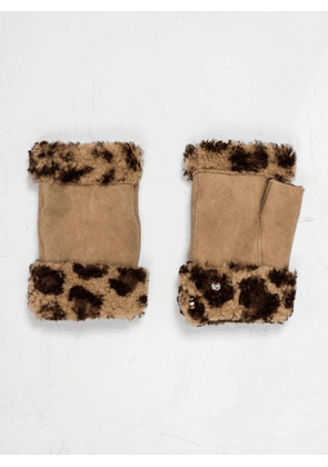 Toasties Sheepskin Fingerless Mittens
