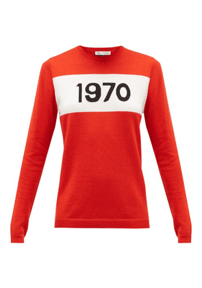 Bella Freud - 1970-intarsia Wool Sweater - Womens - Red