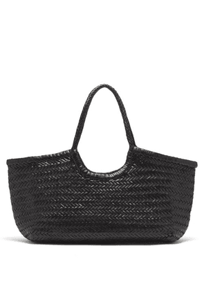 Dragon Diffusion - Nantucket Woven-leather Basket Bag - Womens - Black