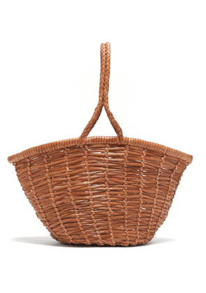 Dragon Diffusion - Jane Birkin Small Woven-leather Basket Bag - Womens - Tan