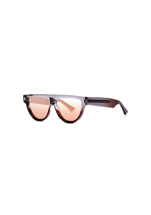 Cutler And Gross 1342 Mirrored D-frame Sunglasses