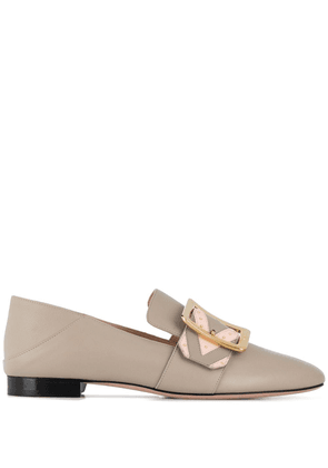 Bally Janelle buckle loafers - NEUTRALS
