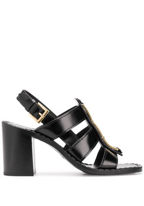 Prada chain detail sandals - Black