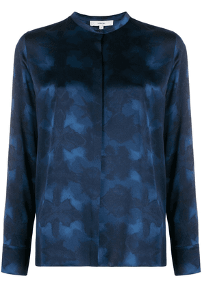 Vince abstract-print silk blouse - Blue