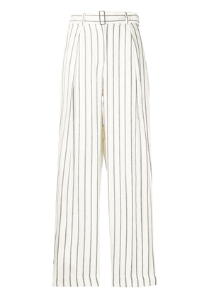 Emporio Armani high waisted striped trousers - NEUTRALS
