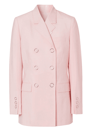 Burberry elongated double-breasted jacket - PINK