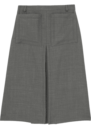 Burberry box-pleat A-line skirt - Grey