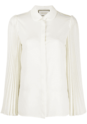 Gucci pleated sleeves shirt - NEUTRALS