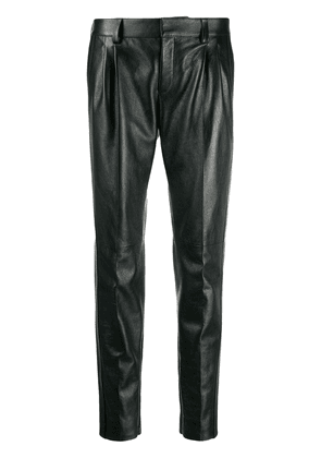 Saint Laurent mid-high tapered trousers - Black