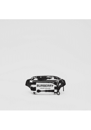 Burberry Small Watercolour Print ECONYL Cannon Bum Bag, Black