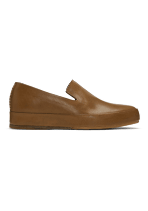 Feit Tan Hand-Sewn Leather Loafers