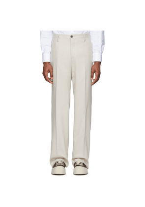 Eidos Beige Piquet Trousers