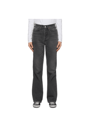 Re/Done Black 70s Bootcut Jeans
