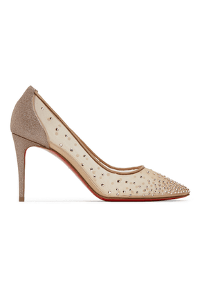 Christian Louboutin Beige Follies 85 Heels