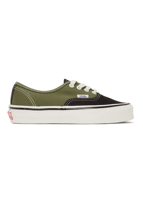 Vans Black and Green OG Authentic LX Sneakers