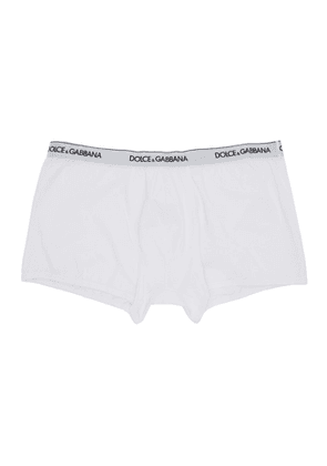 Dolce and Gabbana Two-Pack White Regular Boxer Briefs