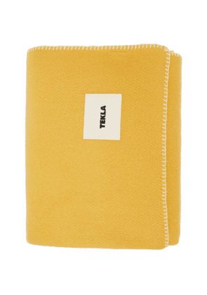 Tekla Yellow Pure New Wool Blanket