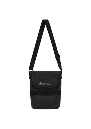 Snow Peak Black Mini Shoulder Messenger Bag