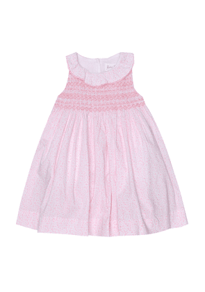 Baby floral cotton dress and bloomers set