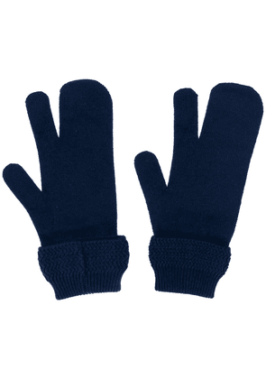 Maison Margiela Tabi four-stitch gloves - Blue