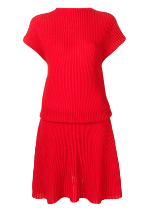 Victoria Victoria Beckham ribbed knit dress - Red
