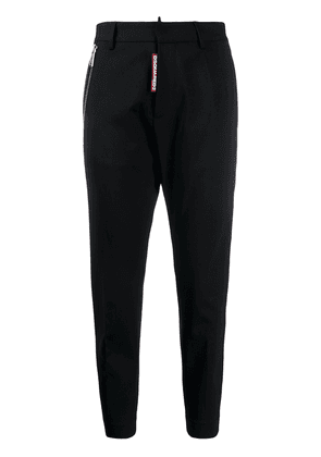 Dsquared2 cropped hardware-detail trousers - Black