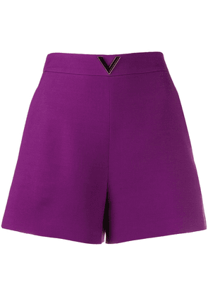 Valentino VGOLD high-waisted shorts - PURPLE