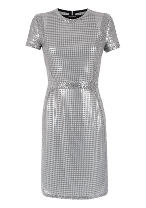 Gloria Coelho embroidered sequin dress - SILVER