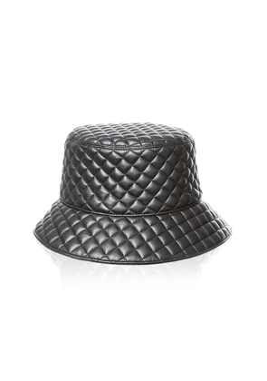 Eric Javits Quilty Quilted-Leather Bucket Hat