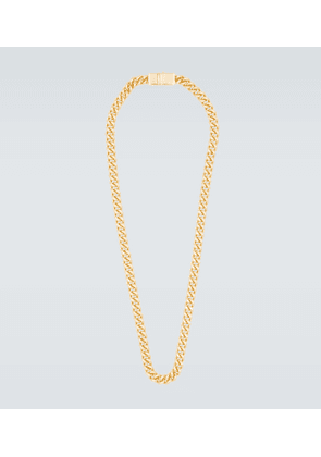 Rounded curb gold-plated chain