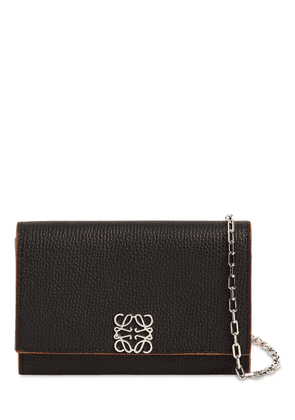 Anagramme Grained Leather Chain Wallet