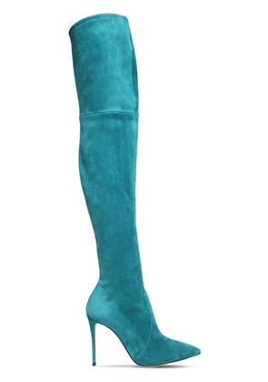 100mm Julia Suede Over-the-knee Boots