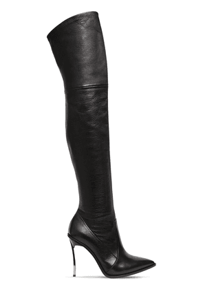 100mm Maxi Blade Stretch Leather Boot