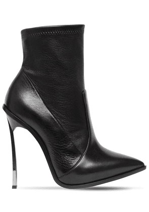 120mm Maxi Blade Stretch Leather Boots