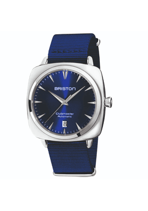 Briston Watches - Briston Clubmaster Automatic 3 Hand Mirror-Polished Steel, Navy Blue