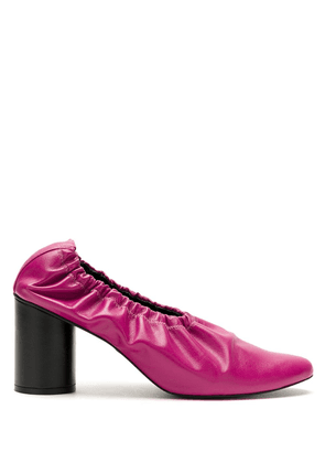 Gloria Coelho ruched leather pumps - PINK