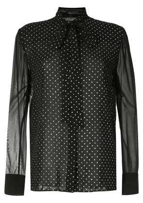 Haider Ackermann metallic polka-dot blouse - Black