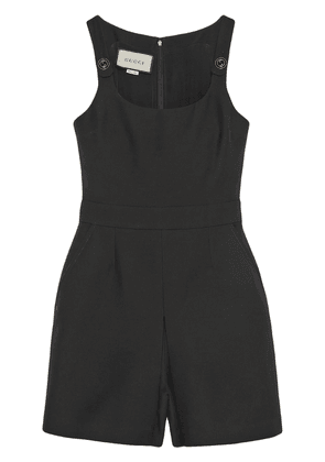 Gucci interlocking G buttons playsuit - Black