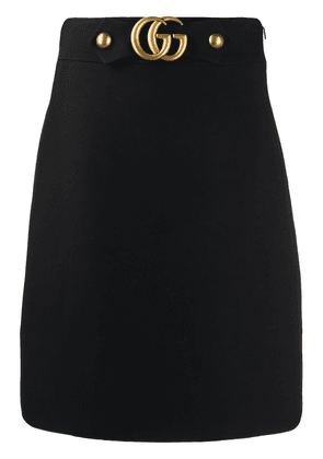 Gucci Double G buckle A-line skirt - Black