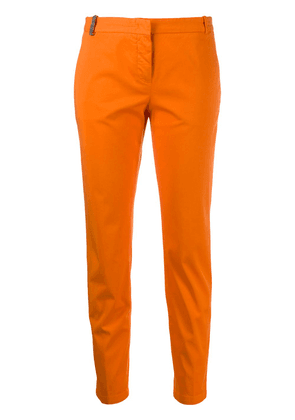 Fabiana Filippi brass-embellished tapered trousers - ORANGE