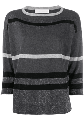 Fabiana Filippi metallic striped pullover - Grey