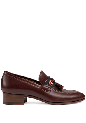 Gucci low heel leather loafers - Brown