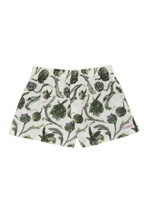 Jacquemus White and Green Artichoke Le Calecon Boxers