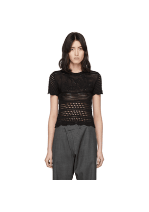 Amiri Black Love Crochet T-Shirt