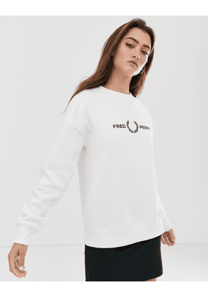 Fred Perry graphic logo sweatshirt-White