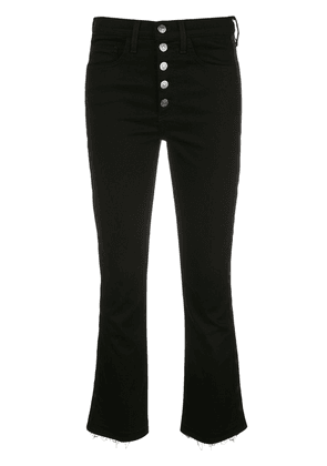 Veronica Beard trim detailed cropped trousers - Black