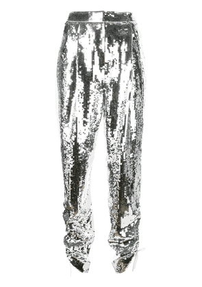 Tibi Avril sequinned trousers - SILVER