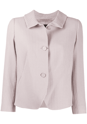 Emporio Armani textured buttoned jacket - PINK